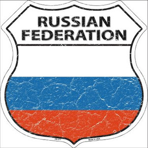 Russian Federation Country Flag Highway Shield Wholesale Metal Sign