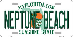 Florida Neptune Beach Wholesale Novelty Metal License Plate LP-11927
