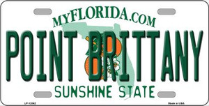 Florida Point Brittany Wholesale Novelty Metal License Plate LP-12062