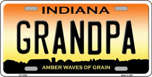 Indiana Grandpa Wholesale Novelty Metal License Plate LP-11938