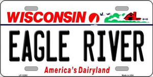 Wisconsin Eagle River Wholesale Novelty Metal License Plate LP-12282