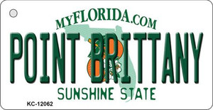 Florida Point Brittany Wholesale Novelty Metal Key Chain KC-12062