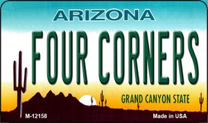 Arizona Four Corners Wholesale Novelty Metal Magnet M-12158