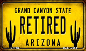 Arizona Retired Wholesale Novelty Metal Magnet M-12326
