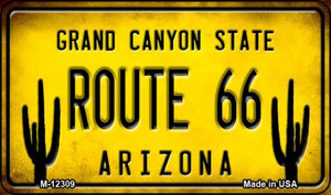 Arizona Route 66 Wholesale Novelty Metal Magnet M-12309