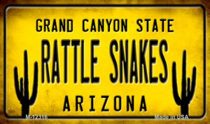 Arizona Rattle Snakes Wholesale Novelty Metal Magnet M-12316