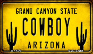 Arizona Cowboy Wholesale Novelty Metal Magnet M-12322