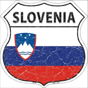Slovenia Country Flag Highway Shield Wholesale Metal Sign