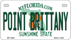 Florida Point Brittany Wholesale Novelty Metal Motorcycle Plate MP-12062