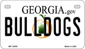 Georgia Bulldogs Wholesale Novelty Metal Motorcycle Plate MP-12059