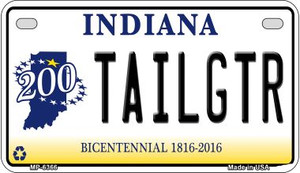 Indiana Tailgtr Wholesale Novelty Metal Motorcycle Plate MP-6366