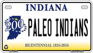 Indiana Paleo Indians Wholesale Novelty Metal Motorcycle Plate MP-6375
