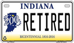 Indiana Retired Wholesale Novelty Metal Motorcycle Plate MP-6386