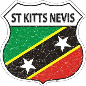 St Kitts Nevis Country Flag Highway Shield Wholesale Metal Sign