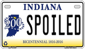 Indiana Spoiled Wholesale Novelty Metal Motorcycle Plate MP-6405