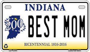 Indiana Best Mom Wholesale Novelty Metal Motorcycle Plate MP-6651