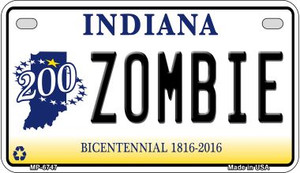 Indiana Zombie Wholesale Novelty Metal Motorcycle Plate MP-6747