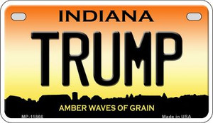 Indiana Trump Wholesale Novelty Metal Motorcycle Plate MP-11866