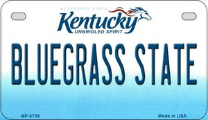 Kentucky Bluegrass State Wholesale Novelty Metal Motorcycle Plate MP-6758