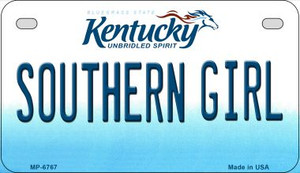 Kentucky Southern Girl Wholesale Novelty Metal Motorcycle Plate MP-6767