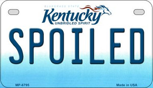 Kentucky Spoiled Wholesale Novelty Metal Motorcycle Plate MP-6795