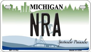 Michigan NRA Wholesale Novelty Metal Motorcycle Plate MP-11782