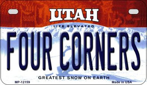 Utah Four Corners Wholesale Novelty Metal Motorcycle Plate MP-12159