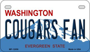 Washington Cougars Fan Wholesale Novelty Metal Motorcycle Plate MP-12058