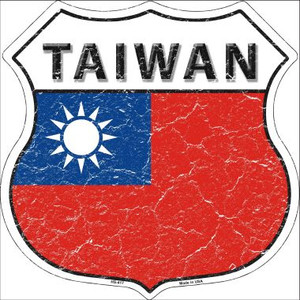 Taiwan Country Flag Highway Shield Wholesale Metal Sign