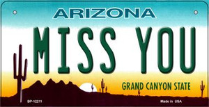 Arizona Miss You Wholesale Novelty Metal Bicycle Plate BP-12211