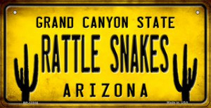 Arizona Rattle Snakes Wholesale Novelty Metal Bicycle Plate BP-12316