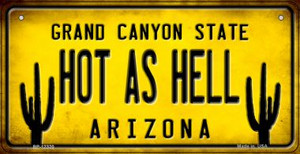 Arizona Hot as Hell Wholesale Novelty Metal Bicycle Plate BP-12320