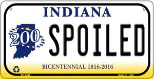 Indiana Spoiled Wholesale Novelty Metal Bicycle Plate BP-6405