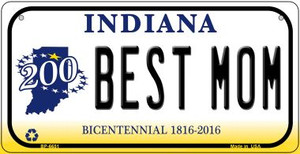 Indiana Best Mom Wholesale Novelty Metal Bicycle Plate BP-6651
