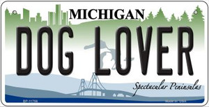Michigan Dog Lover Wholesale Novelty Metal Bicycle Plate BP-11756