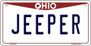 Ohio Jeeper Wholesale Novelty Metal Bicycle Plate BP-12285
