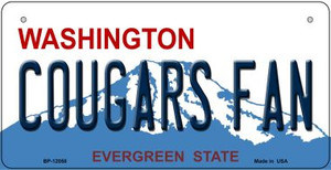 Washington Cougars Fan Wholesale Novelty Metal Bicycle Plate BP-12058