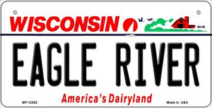 Wisconsin Eagle River Wholesale Novelty Metal Bicycle Plate BP-12282