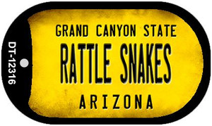 Arizona Rattle Snakes Wholesale Novelty Metal Dog Tag Necklace