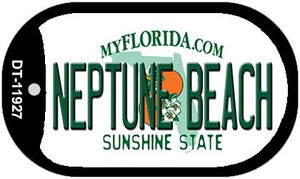 Florida Neptune Beach Wholesale Novelty Metal Dog Tag Necklace DT-11927