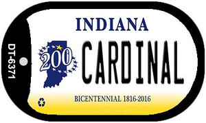 Indiana Cardinal Wholesale Novelty Metal Dog Tag Necklace DT-6371