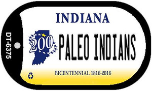 Indiana Paleo Indians Wholesale Novelty Metal Dog Tag Necklace DT-6375