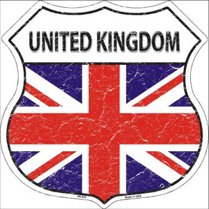 United Kingdom Country Flag Highway Shield Wholesale Metal Sign
