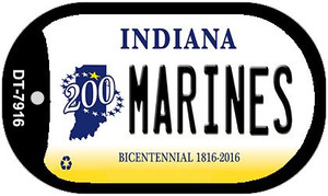 Indiana Marines Wholesale Novelty Metal Dog Tag Necklace DT-7916