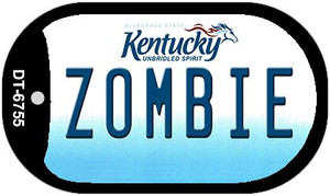 Kentucky Zombie Wholesale Novelty Metal Dog Tag Necklace DT-6755