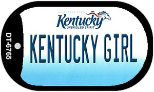 Kentucky Girl Wholesale Novelty Metal Dog Tag Necklace DT-6765