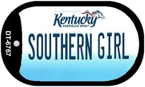 Kentucky Southern Girl Wholesale Novelty Metal Dog Tag Necklace DT-6767