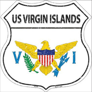 US Virgin Islands Country Flag Highway Shield Wholesale Metal Sign