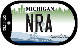Michigan NRA Wholesale Novelty Metal Dog Tag Necklace DT-11782