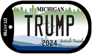 Michigan Trump Wholesale Novelty Metal Dog Tag Necklace DT-11798